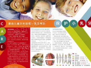爱齿炫彩儿童牙科挂图——乳牙常识