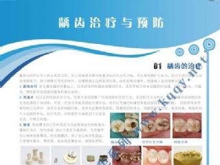 爱齿竖版蓝色口腔挂图——龋齿预防与治疗