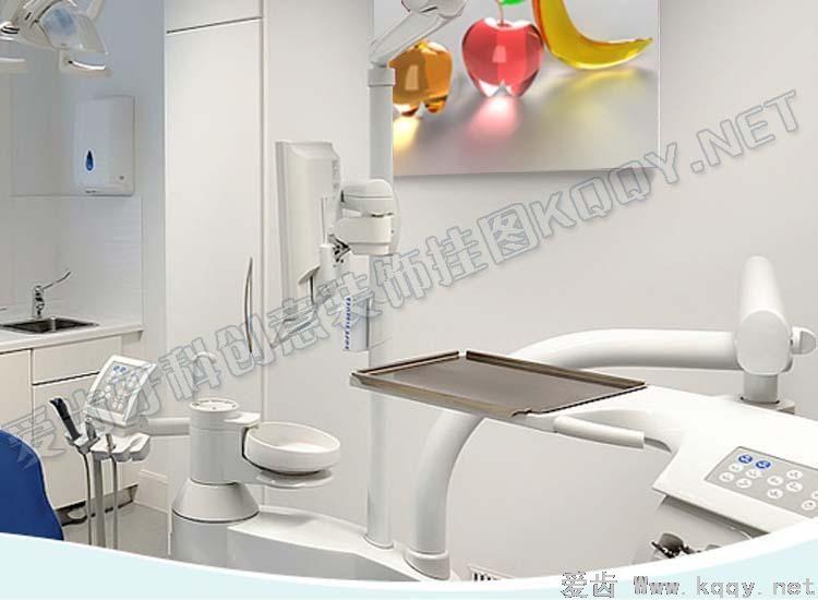 水晶水果 爱齿创意牙科装饰挂图宣传画 沙发背景墙 候诊区精美图