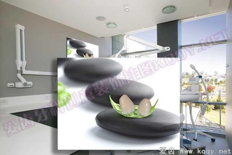 黑石烤瓷 爱齿创意牙科装饰挂图宣传画 沙发背景墙 候诊区精美图片