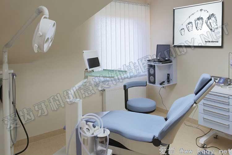 水之花爱齿创意牙科装饰挂图宣传画 沙发背景墙 候诊区精美图片